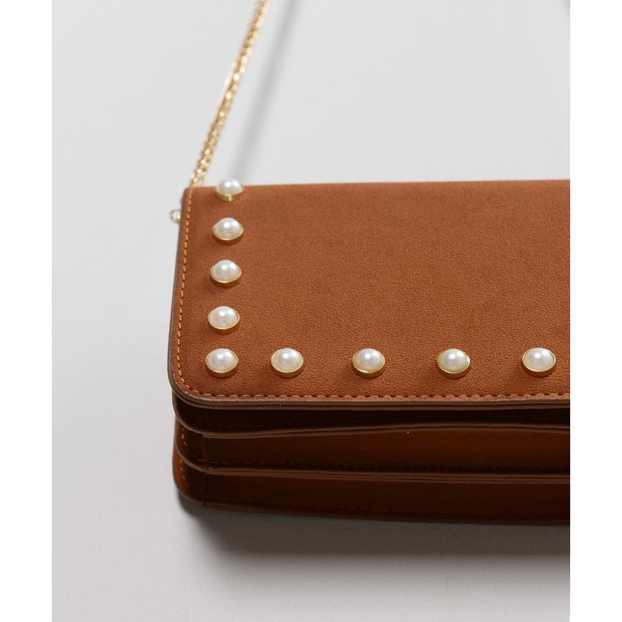 秋新作 パールショルダーバッグ 鞄 バッグ ショルダー チェーン パール 上品 カジュアル シンプル コンパクト 韓国ファッションレディース 6