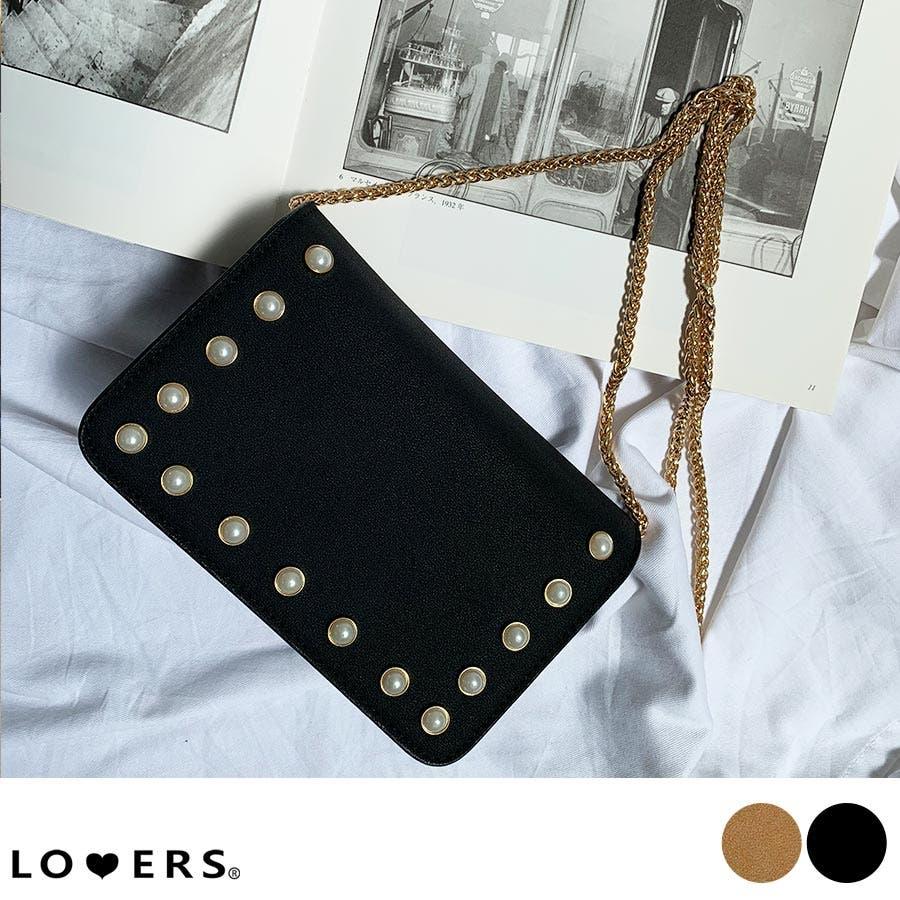 秋新作 パールショルダーバッグ 鞄 バッグ ショルダー チェーン パール 上品 カジュアル シンプル コンパクト 韓国ファッションレディース 1