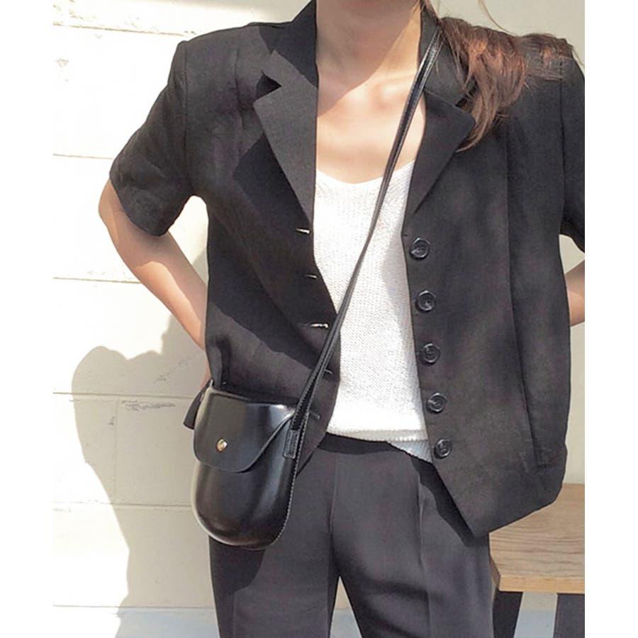 秋新作 レザー調ミニポシェット バッグ 鞄 ショルダー ポシェット レザー調 シンプル レディース 韓国ファッション 4