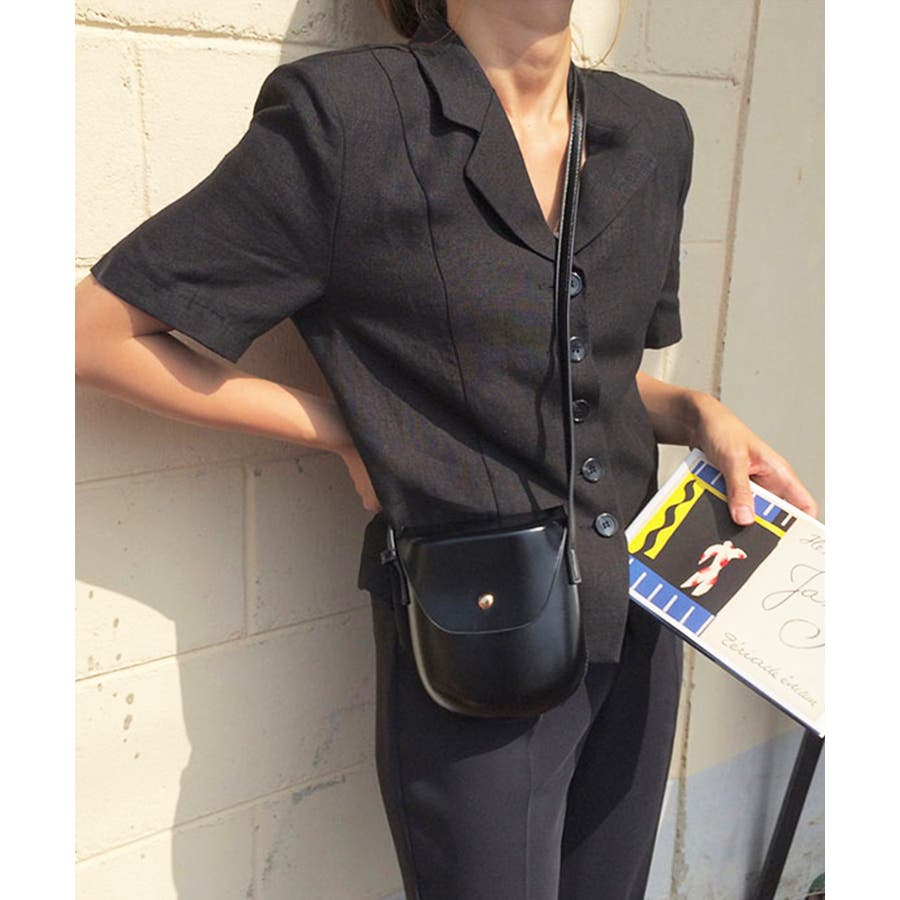 秋新作 レザー調ミニポシェット バッグ 鞄 ショルダー ポシェット レザー調 シンプル レディース 韓国ファッション 21