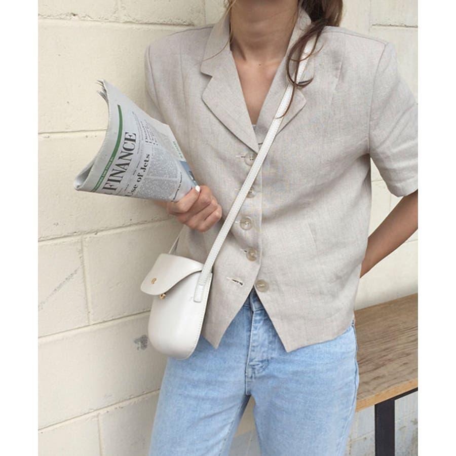 秋新作 レザー調ミニポシェット バッグ 鞄 ショルダー ポシェット レザー調 シンプル レディース 韓国ファッション 9