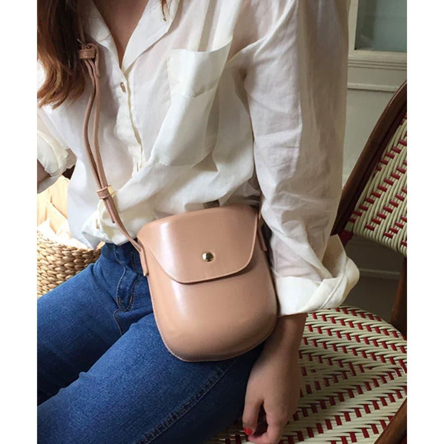 秋新作 レザー調ミニポシェット バッグ 鞄 ショルダー ポシェット レザー調 シンプル レディース 韓国ファッション 41