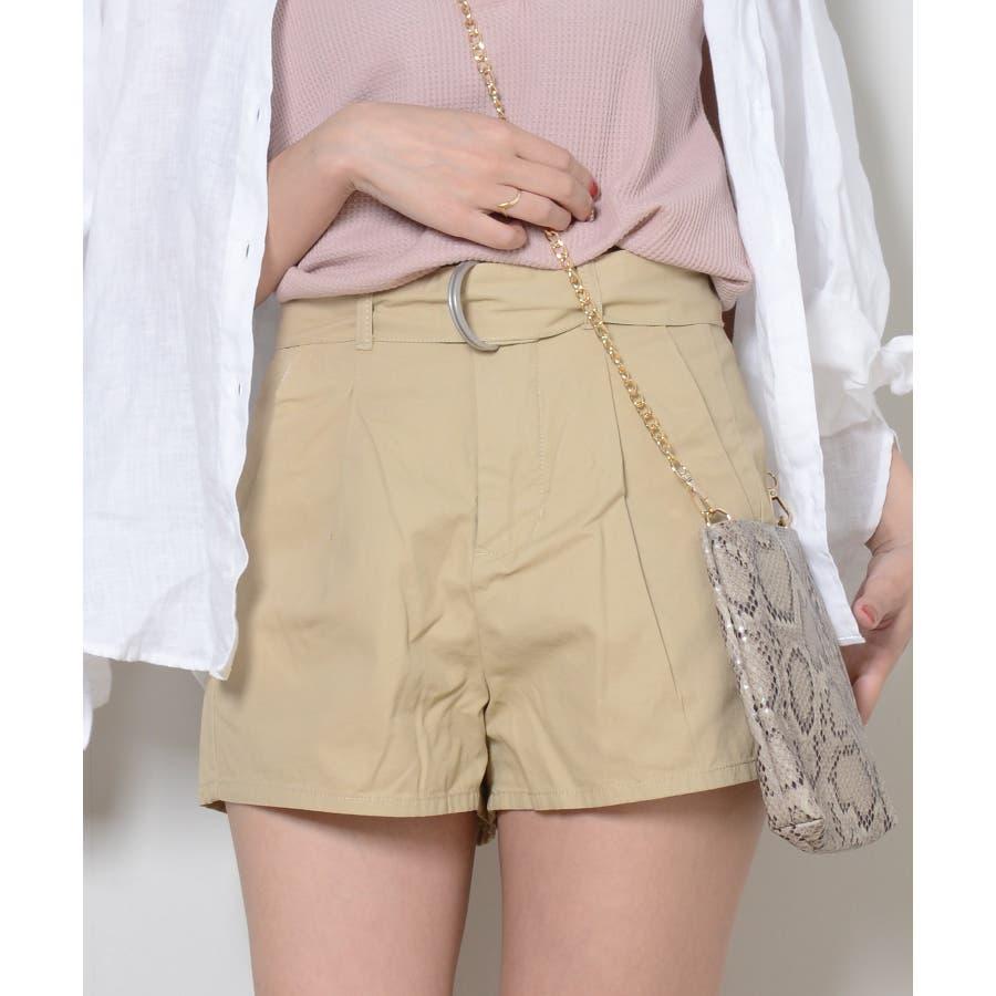 秋新作 ツイルショートパンツ シンプル ツイル型 ショートパンツ トレンド レディース 韓国ファッション 流行 2