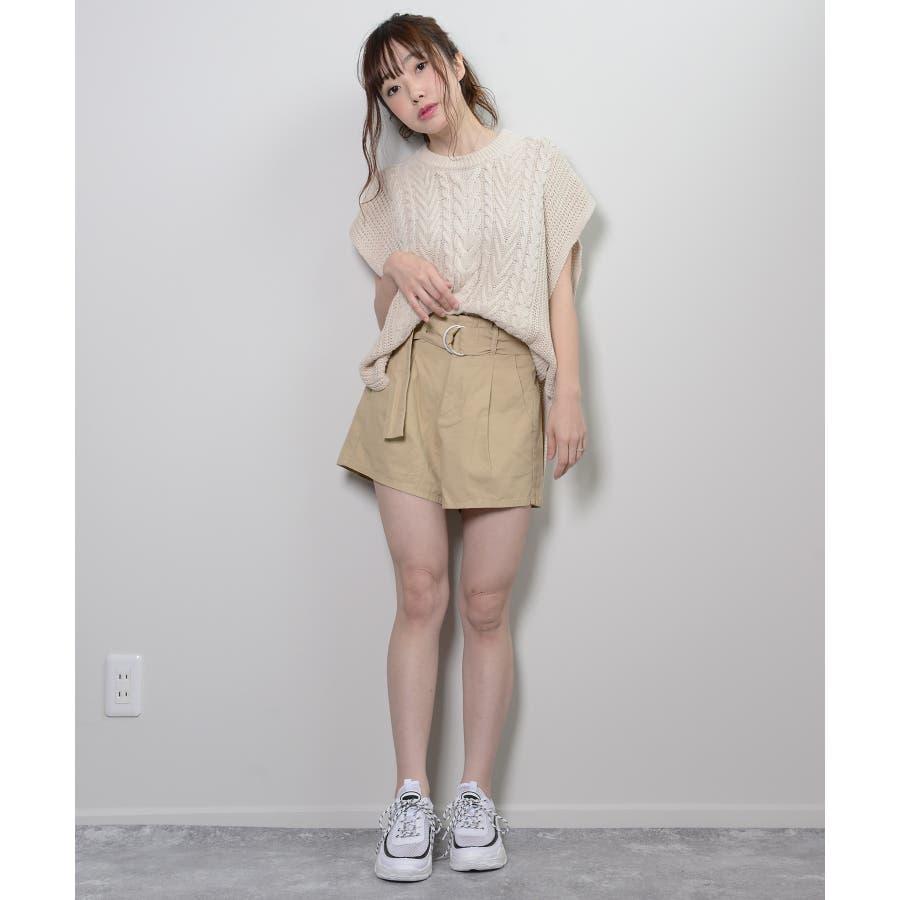 秋新作 ツイルショートパンツ シンプル ツイル型 ショートパンツ トレンド レディース 韓国ファッション 流行 5