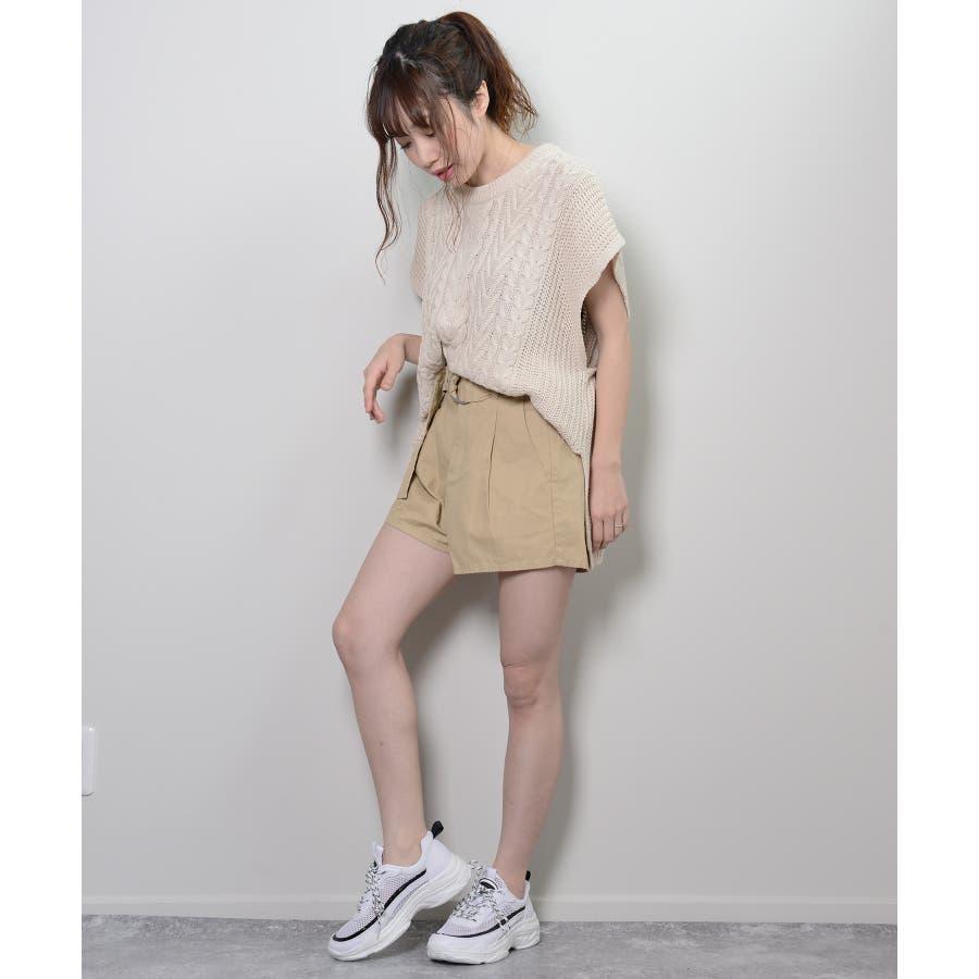 秋新作 ツイルショートパンツ シンプル ツイル型 ショートパンツ トレンド レディース 韓国ファッション 流行 6