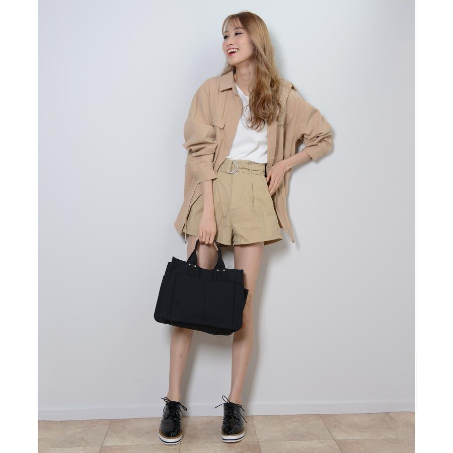秋新作 ツイルショートパンツ シンプル ツイル型 ショートパンツ トレンド レディース 韓国ファッション 流行 7