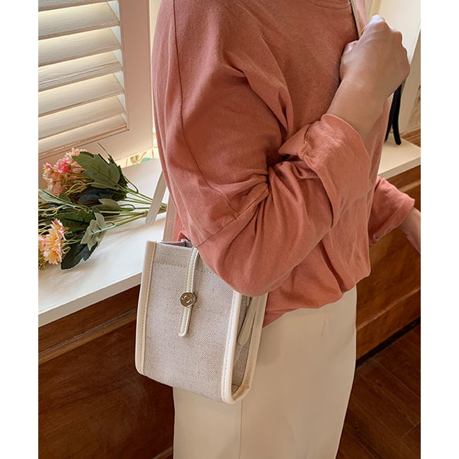秋新作 ショルダーバッグ 鞄 ショルダー バッグ ミニバッグ シンプル キャンバス レザー調 カジュアル トレンド レディース韓国ファッション 流行 16