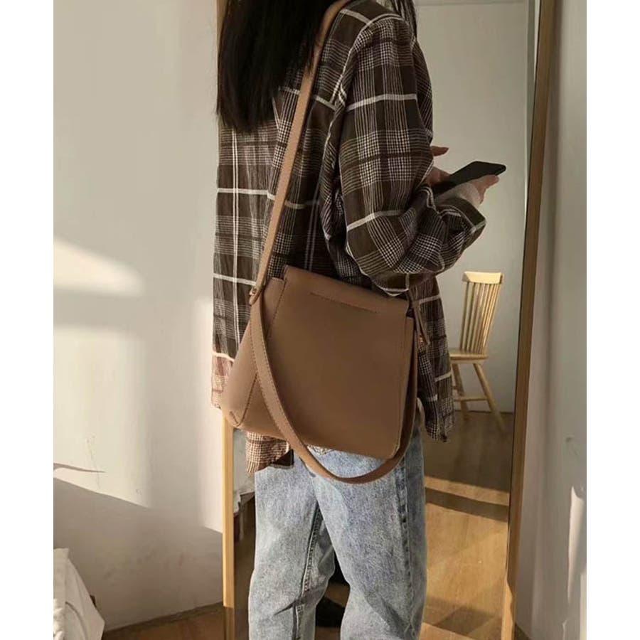 秋新作 スクエアショルダーバッグ バッグ ショルダー 鞄 スクエア ハンド 上品 大人 シンプル カジュアルレディース韓国ファッション 6