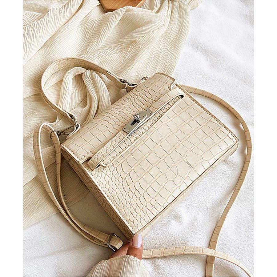秋新作 クロコスクエアバッグ バッグ ハンドバッグ ショルダー 鞄 アニマル クロコ 個性的 トレンド 韓国ファッション レディース 16
