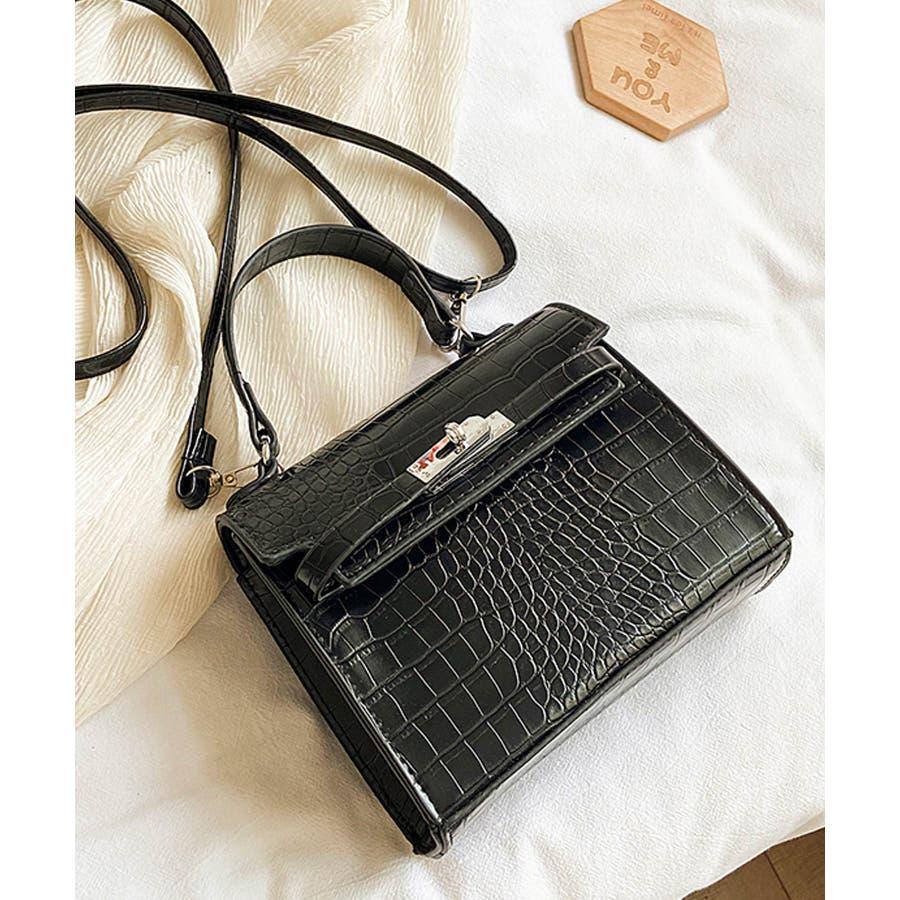 秋新作 クロコスクエアバッグ バッグ ハンドバッグ ショルダー 鞄 アニマル クロコ 個性的 トレンド 韓国ファッション レディース 21