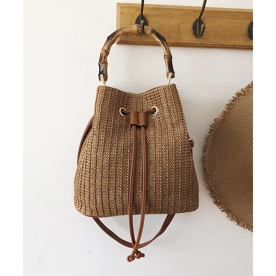 秋新作 巾着カゴバッグ シンプル 巾着 カゴ バッグ トレンド レディース 韓国ファッション 流行 29