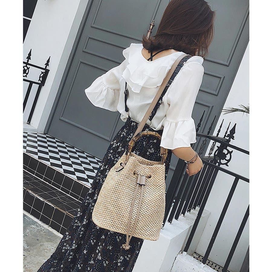 秋新作 巾着カゴバッグ シンプル 巾着 カゴ バッグ トレンド レディース 韓国ファッション 流行 10