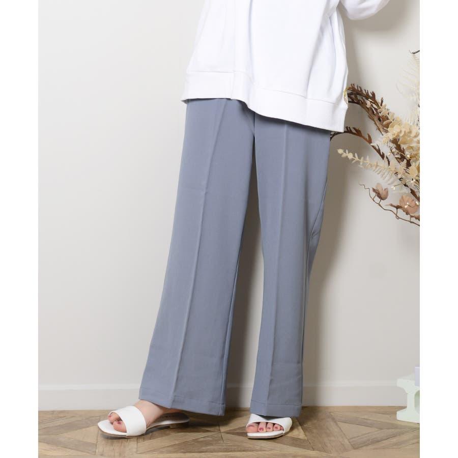 秋新作 スラックパンツ シンプル スラック パンツ トレンド レディース 韓国ファッション 流行 2