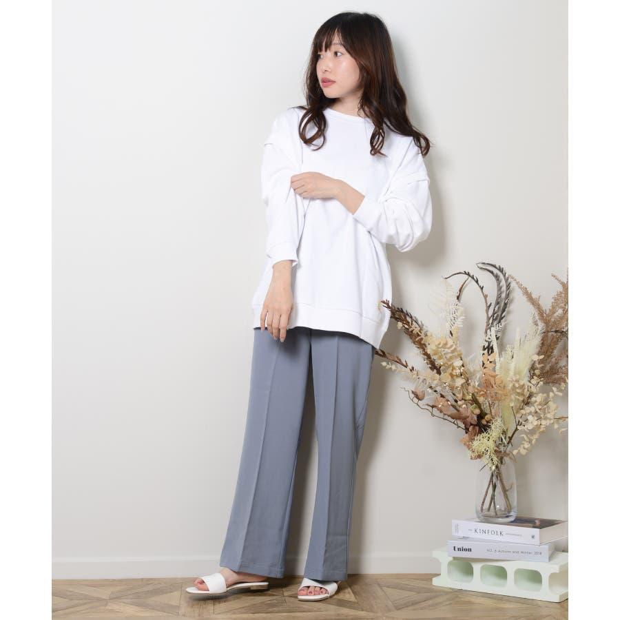 秋新作 スラックパンツ シンプル スラック パンツ トレンド レディース 韓国ファッション 流行 3