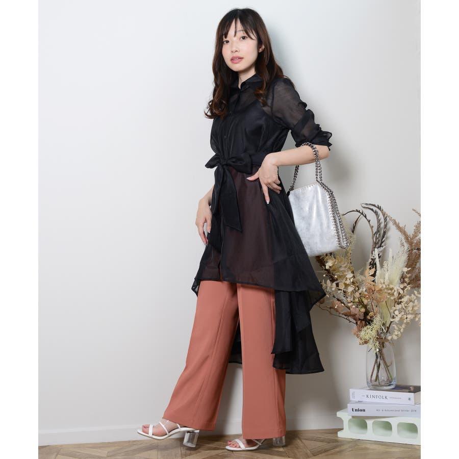 秋新作 スラックパンツ シンプル スラック パンツ トレンド レディース 韓国ファッション 流行 7