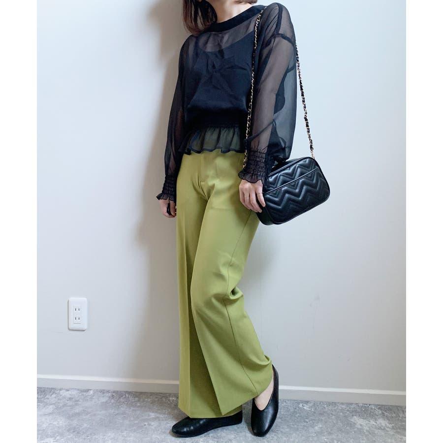 秋新作 スラックパンツ シンプル スラック パンツ トレンド レディース 韓国ファッション 流行 47