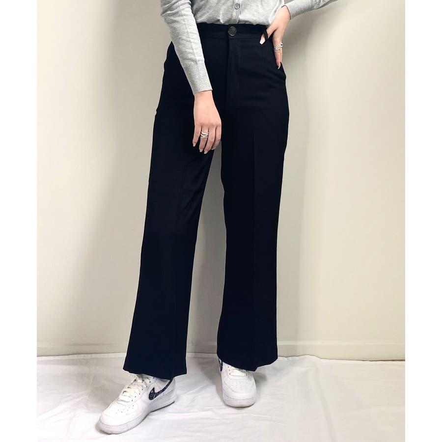 秋新作 スラックパンツ シンプル スラック パンツ トレンド レディース 韓国ファッション 流行 21