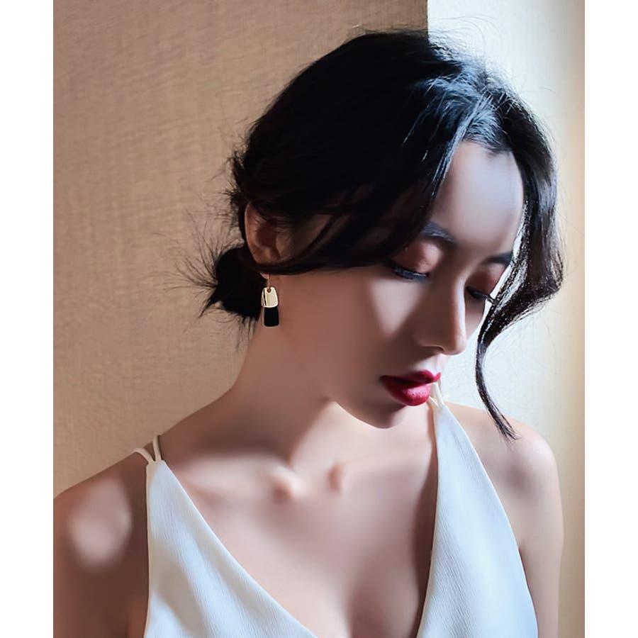 秋新作 プレートピアス ma アクセサリー アクセ ピアス ゴールド 華奢 プレート トレンド レディース 韓国ファッション 流行 7