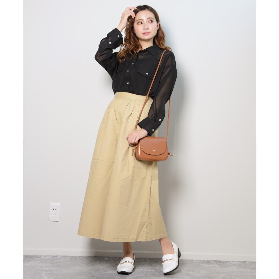 秋新作 シースルーカラーシャツ シンプル シースルー カラー シャツ ブラウス トレンド レディース 韓国ファッション 流行 4