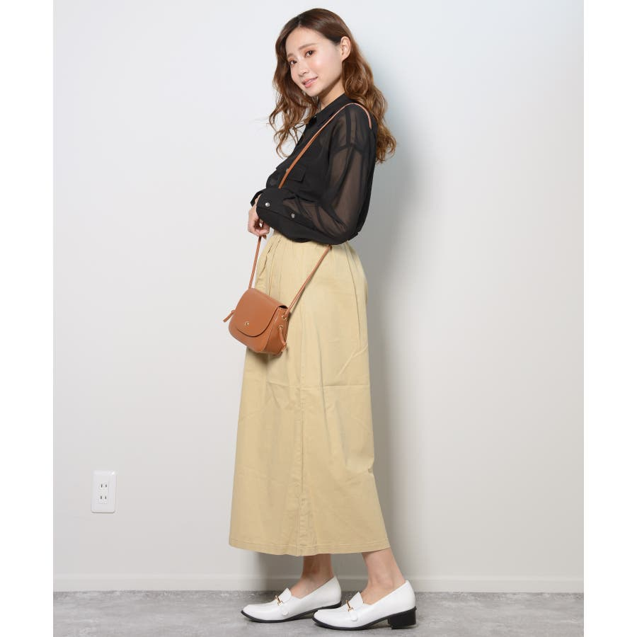 秋新作 シースルーカラーシャツ シンプル シースルー カラー シャツ ブラウス トレンド レディース 韓国ファッション 流行 5
