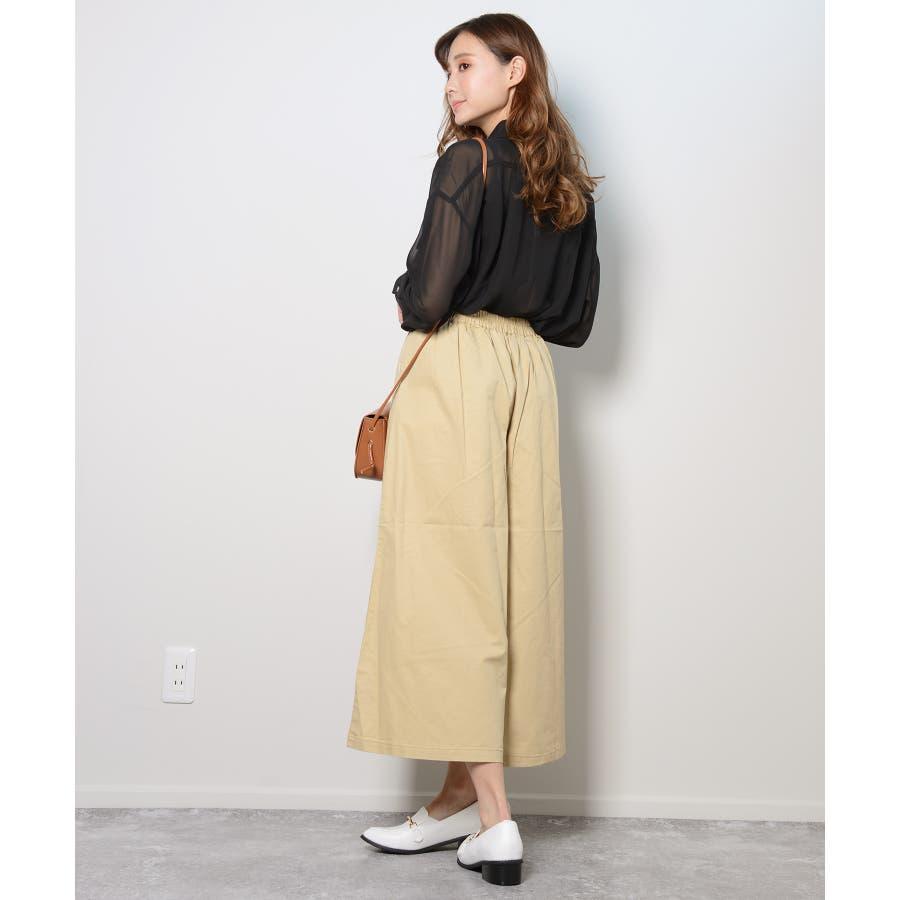 秋新作 シースルーカラーシャツ シンプル シースルー カラー シャツ ブラウス トレンド レディース 韓国ファッション 流行 6