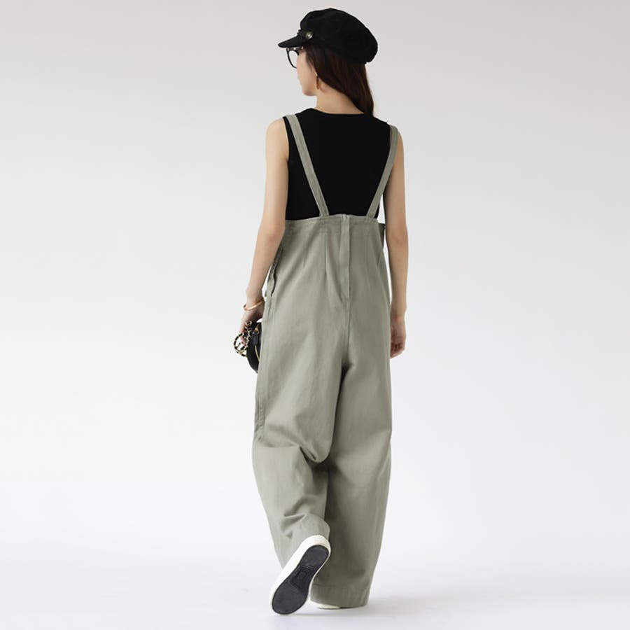 【COCOMOMO】 カジュアル デニム サロペット 可愛い レディース 韓国ファッション ゆったり 大きいサイズ ワイドパンツ 8