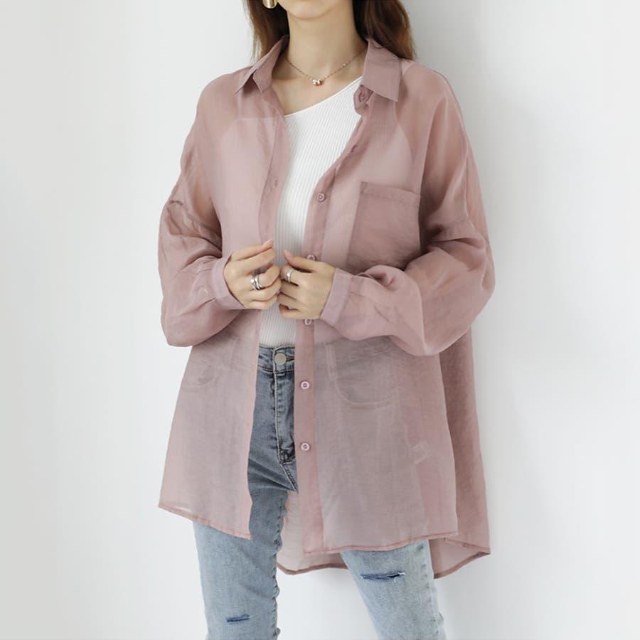 【COCOMOMO】 上品 カジュアル 焼け止め 長袖シャツ レディース 韓国ファッション 可愛い UVカット 透け感 87