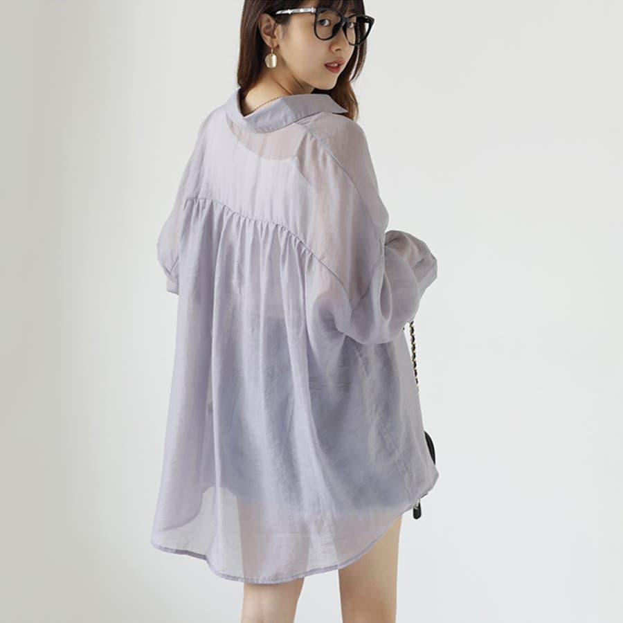 【COCOMOMO】 上品 カジュアル 焼け止め 長袖シャツ レディース 韓国ファッション 可愛い UVカット 透け感 8