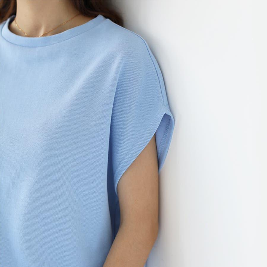 【COCOMOMO】2TYPE!!クールネック/Vネック カットソー レディース 韓国ファッションカジュアル 無地 半袖 トップス可愛い 6