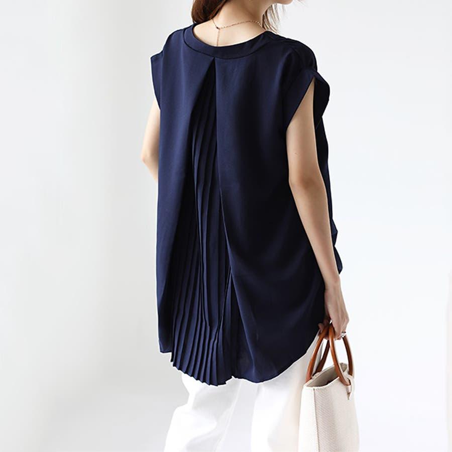 バックデザイン シャツ 韓国ファッション レディース 無地 オシャレ Vネック トップス カジュアル 1