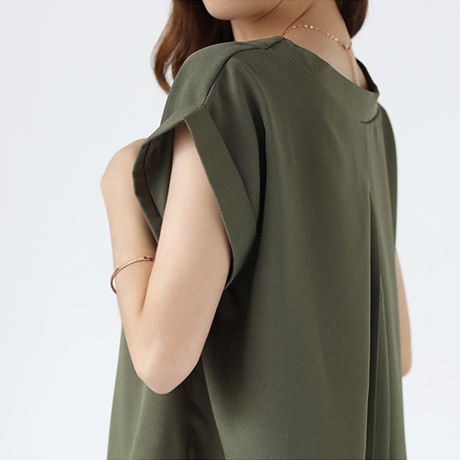 バックデザイン シャツ 韓国ファッション レディース 無地 オシャレ Vネック トップス カジュアル 7
