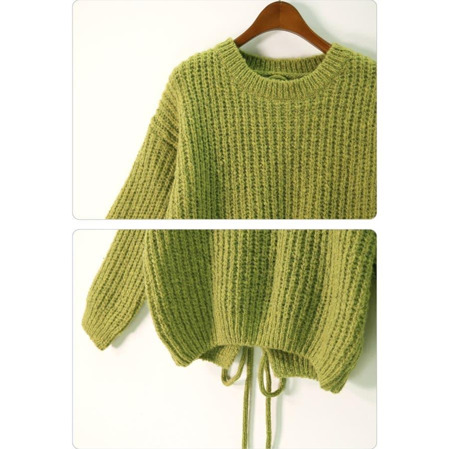 ざっくり編み ニット バック編み セーター 秋冬 韓国 10
