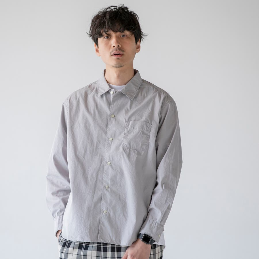 ポプリンオーバーダイレギュラーシャツ 1