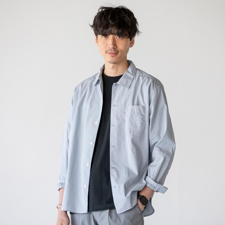 ポプリンオーバーダイレギュラーシャツ 60