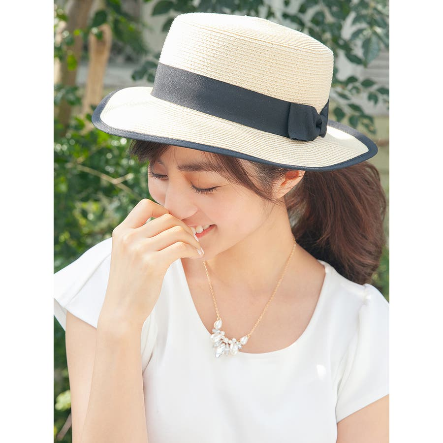 可愛(*´ω`*) ストローカンカン帽 横溢