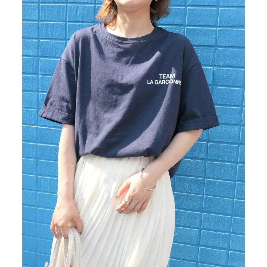 0202ebb3534 シンプルロゴTシャツ 選べる2タイプ半袖 長袖 Tシャツ ロゴトップス ...