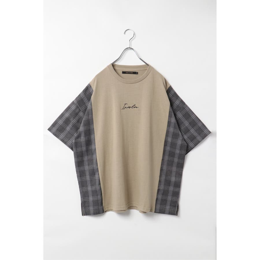 チェック切り替えTシャツ 41