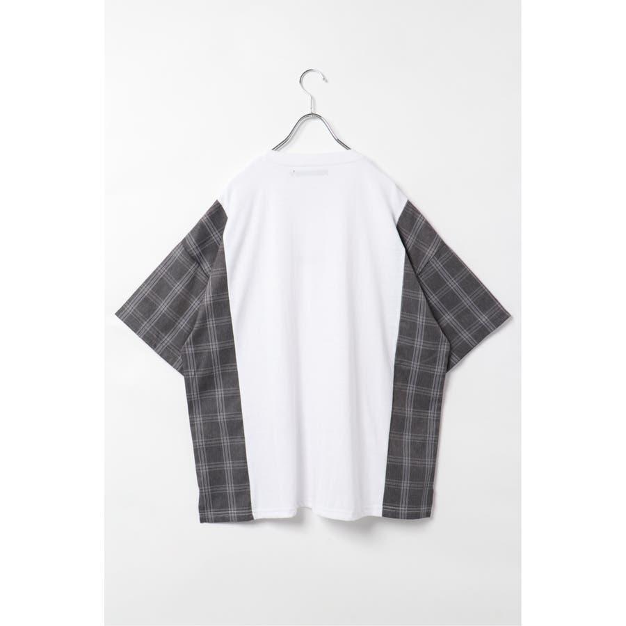 チェック切り替えTシャツ 6