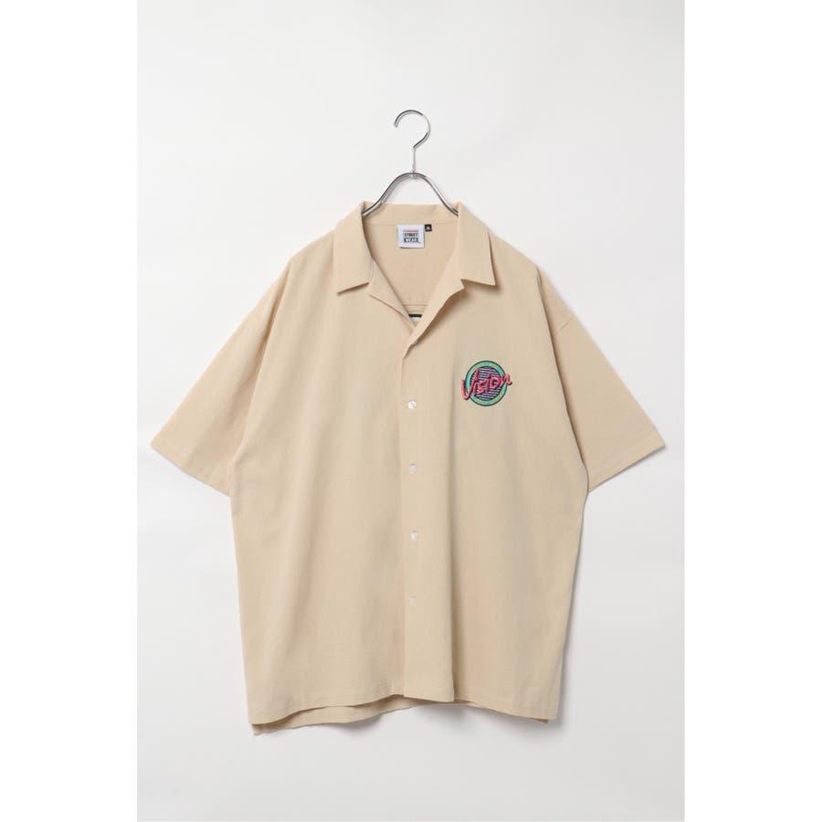 VISION サークルロゴ刺繍開襟シャツ 84