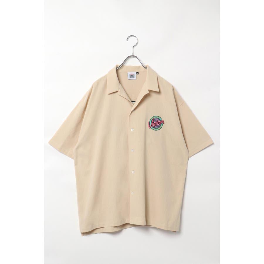 VISION サークルロゴ刺繍開襟シャツ 2