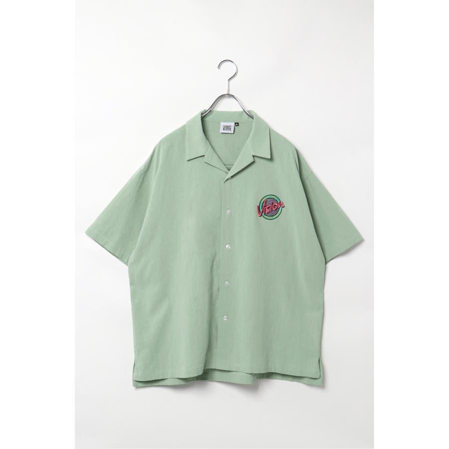 VISION サークルロゴ刺繍開襟シャツ 3