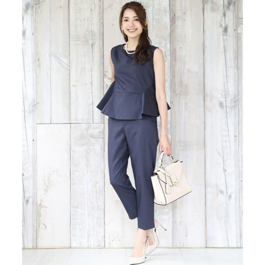 【Marisol×モデルRINA】パンツスーツ レディース 大きいサイズ 結婚式 入学式 入園