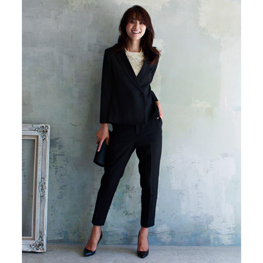 【VERY×牧野紗弥】パンツスーツ レディース 大きいサイズ 結婚式 入学式 入園