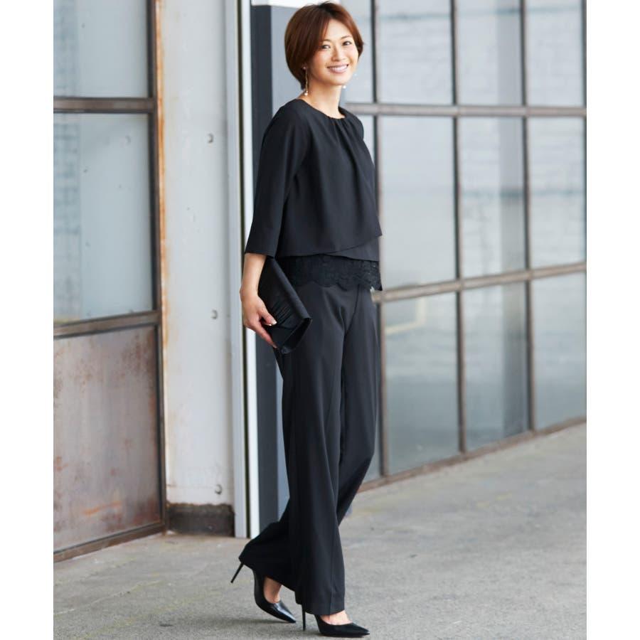 ff12673d312af  VERYモデル×牧野紗弥さん パンツスーツレディースパンツスーツ大きいサイズ結婚