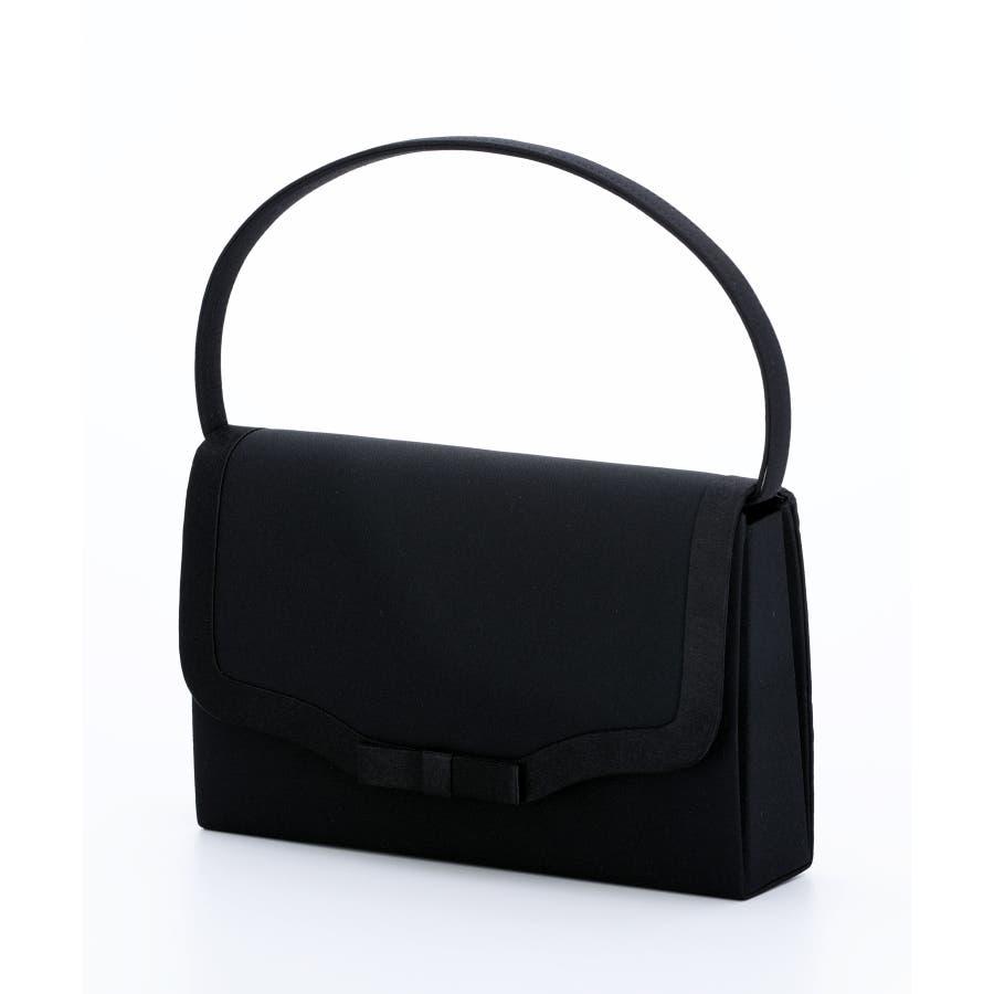 a85c5426a3c9 ブラックフォーマル レディース フォーマルバッグ バッグ フォーマルバック フォーマル 鞄 大きめ 手提げ 黒 サブバッグ 冠