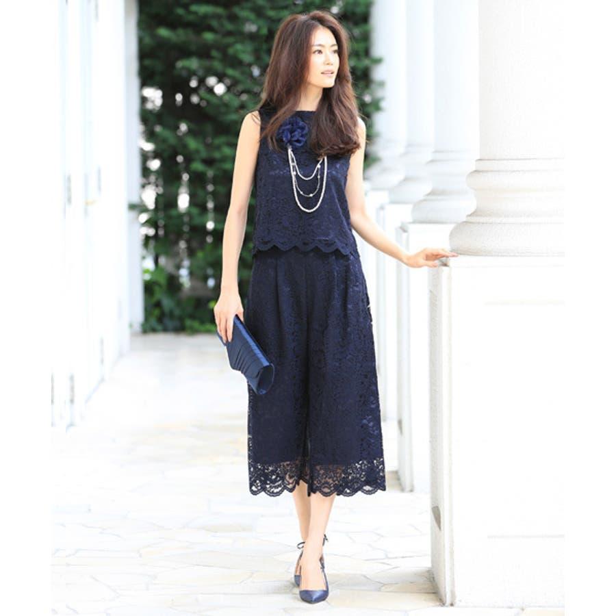 d8241a8cc6898  葛岡碧×COLLECTION パンツドレス 結婚式 パーティードレス パンツ 大きいサイズドレス