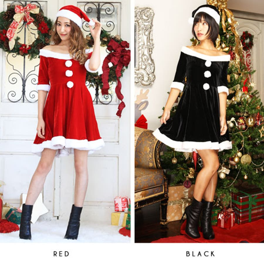 88cbe1a3c1c79 サンタコスプレサンタコスクリスマスコスチューム大きいサイズ衣装長袖半袖コスセクシーサンタクロースパーティワンピースサンタ
