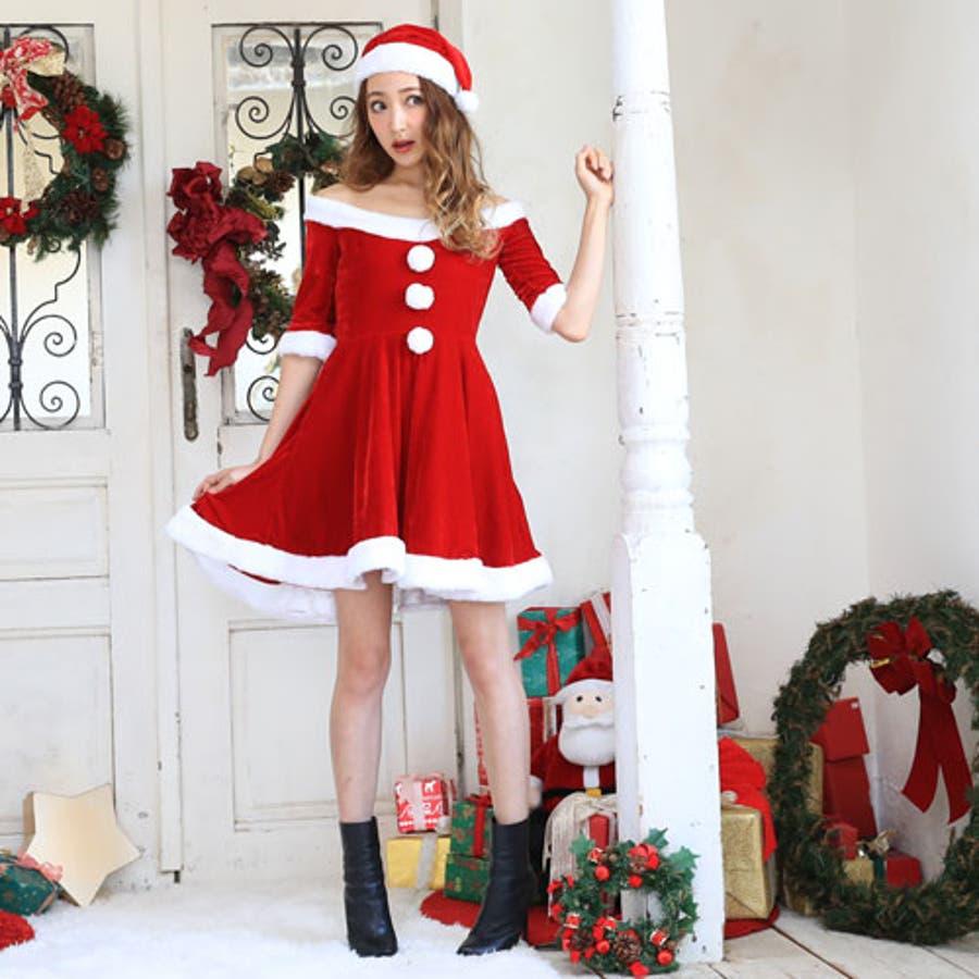 aff9ec1201c50 サンタコスプレサンタコスクリスマスコスチューム大きいサイズ衣装長袖半袖コスセクシーサンタクロースパーティワンピースサンタ