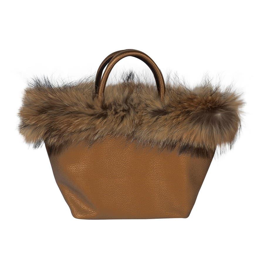 (ラクーンリアルファー付きトートバッグ)ファーバッグ レディース トートバッグ トートバック バケツバッグ バケツ バッグ 鞄 カバンファー バック bag ラクーン 105