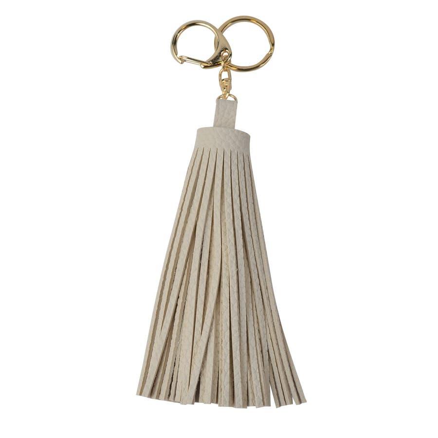 (合皮ラージサイズタッセルキーホルダー)タッセル バッグチャーム バッグ チャーム キーホルダー キーチャーム プレゼント 女性 合皮フェイクレザー 18